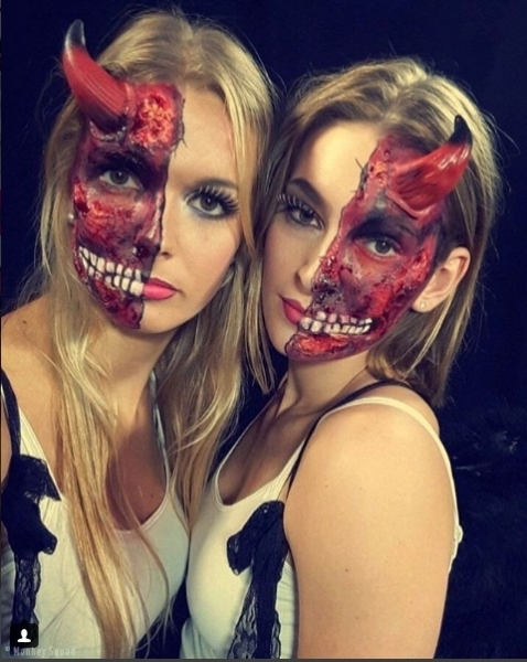 Phonejuice - hostesses - promoteam - make up - halloween