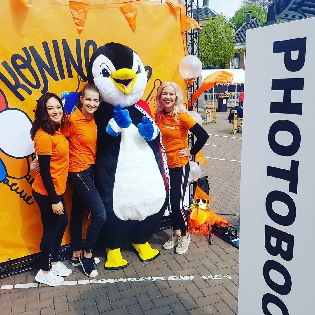Rabobank - hostesses - koningsdag - promoteam - mascotte